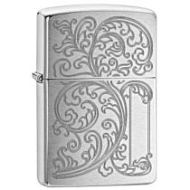 Zippo 29448 233 Vines With Initial Panel (Tribal Scorpion)